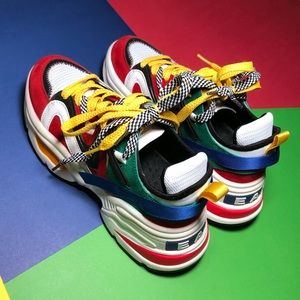 PRIMARY COLOR CHUNKY SNEAKERS SIZE 5.5/SMALL 6